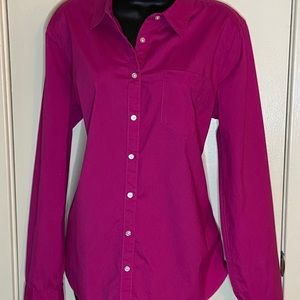 Bright Pink button down top + free 🎁